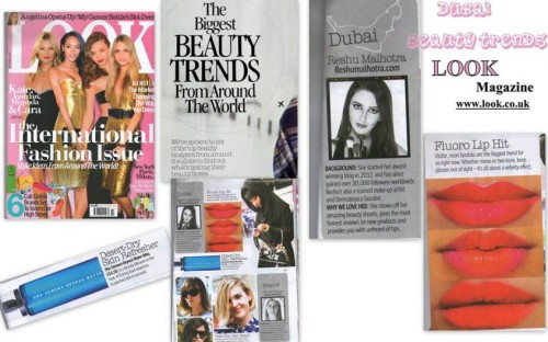 CHOSEN MIDDLE EAST BEAUTY BLOGGER FOR LOOK MAGAZINE UK
